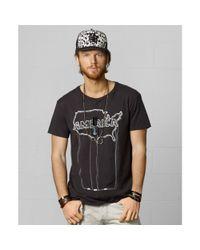 40d21fa2cbfc9 Lyst - Denim   Supply Ralph Lauren America Neon Tshirt in Black for Men