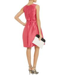 Raoul | Pink Velda Belted Silk And Cotton-blend Twill Dress | Lyst