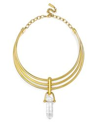 BaubleBar | Metallic X Olivia Palermo 'occult' Quartz Collar Necklace | Lyst