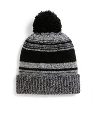 Saks Fifth Avenue | Black Marled Knit Wool-blend Hat | Lyst