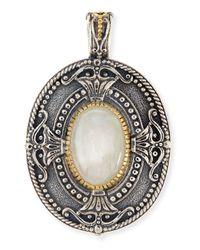 Konstantino | Metallic Erato Oval Labradorite Pendant | Lyst