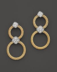 Charriol | Metallic Classique Diamond Drop Earrings, .11 Ct. T.W. | Lyst