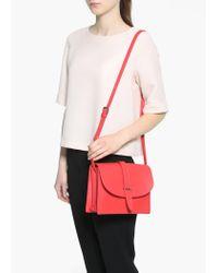 Mango Red Flap Cross-Body Bag