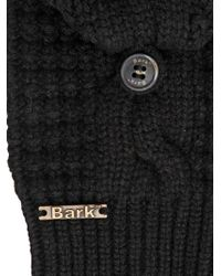 Bark - Black Wool Blend Fingerless Mittens for Men - Lyst