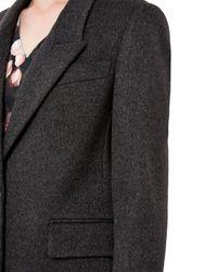 Jaeger - Gray Wool Cashmere Boyfriend Coat - Lyst