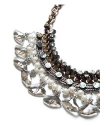 Zara | Metallic Combination Pearl and Chain Necklace | Lyst