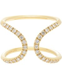 Roberto Marroni | Metallic 18kt Yellow Gold Ring With White Diamonds | Lyst