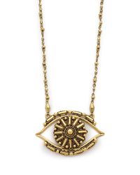 Vanessa Mooney | Metallic Rocker Eye Necklace | Lyst