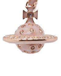 Vivienne Westwood - Pink Flashing Orb Necklace - Lyst