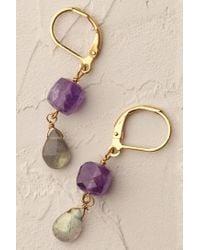 Anthropologie - Purple Prismatic Drop Earrings - Lyst