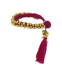 TOPSHOP Purple Fuchsia Bells and Tassels Bracelet