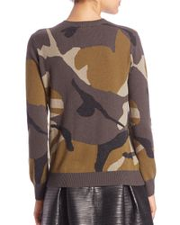 Burberry Brit Green Cashmere Camouflage Sweater
