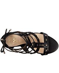 Vince Camuto | Black Kazie - Rivet-detailed High Heel Sandal | Lyst