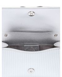 Ferragamo Textured Metallic Leather Shoulder Bag