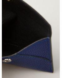 Alexander McQueen | Blue Skull Flap Cardholder | Lyst