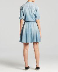 DKNY - Blue Pure Denim Shirt Dress - Lyst