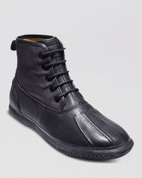 Cole Haan Black Trenton Weather Boots for men