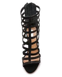 Schutz - Davinya Cage Sandals - Black - Lyst