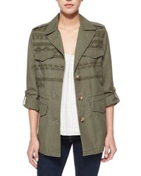 Joie - Green Evandale Embroidered Jacket - Lyst