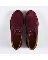 Paul Smith | Purple Women's Bordeaux Suede 'marley' Chukka Boots | Lyst