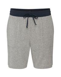 BOSS - Gray 'jersey Short Pant Cw' | Stretch Cotton Blend Shorts for Men - Lyst