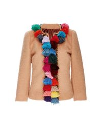 Stella Jean - Natural Wool And Mohair Jacket With Tassel Trim - Lyst