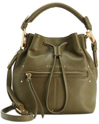 Sanctuary | Green Leather Drawstring Small Bucket Bag | Lyst