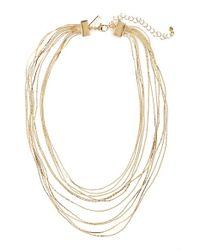 TOPSHOP - Metallic Multi Row Statement Necklace - Lyst