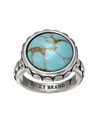 Lucky Brand | Blue Silver And Turquoise Ring | Lyst