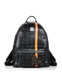 MCM - Black Munich Lion Backpack for Men - Lyst