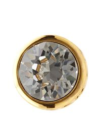 Karen Millen | Metallic Round Stud Earrings | Lyst