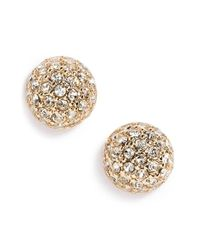 Givenchy | Metallic Pave Ball Stud Earrings | Lyst