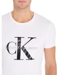 Calvin Klein | White Tee T-shirt for Men | Lyst