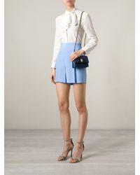 Ferragamo Blue 'ginny' Cross Body Bag
