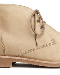 H&M Natural Desert Boots for men