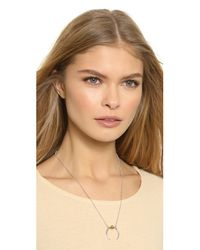 Rachel Zoe Metallic Mia Sphere Crescent Necklace - Gold