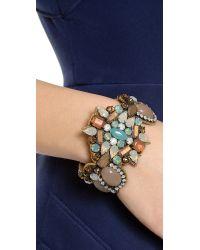 Deepa Gurnani Multicolor Crystal Cuff Bracelet