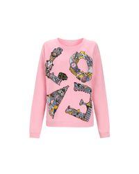 Mary Katrantzou | Pink Sweatshirt Emb Love | Lyst