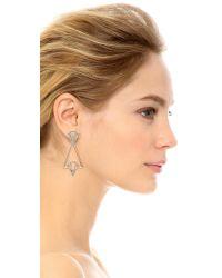 Lulu Frost - Metallic Portico Earrings - Gold/clear - Lyst