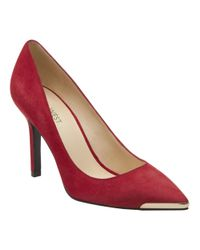 Nine West | Red Mastic Pointed Toe Pumps | Lyst