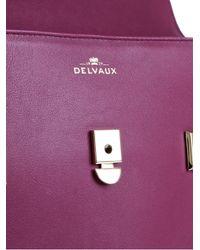Delvaux Purple Tempete Gm Satchel