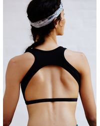 Free People | Black Fp Movement Womens Bridge Back Bra Solid | Lyst