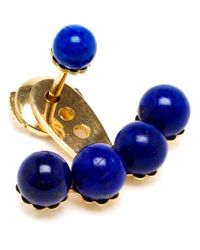 Yvonne Léon - Blue 18Kt Yellow Gold And Lapis Lazuli Lobe Earring - Lyst