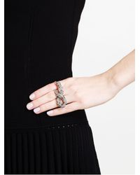 Loree Rodkin - Metallic 18k Oxidised Gold and Grey Diamond Vine Ring - Lyst