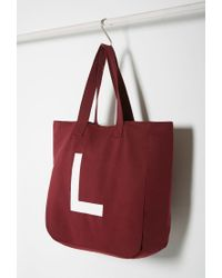 Forever 21 - Purple Initial Graphic Oversized Tote You've Been Added To The Waitlist - Lyst