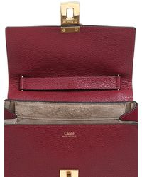 Chloé Purple Small Drew Grained Nappa Leather Bag