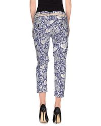 Franklin & Marshall - Blue Casual Trouser - Lyst