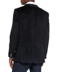 Bogosse - Black Velvet Paisley-print Blazer for Men - Lyst