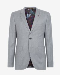 Ted Baker Gray Deluxe Cashmere-blend Jacket for men