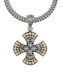 John Hardy Metallic Jaisalmer Gold And Silver Medium Cross Pendant